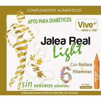 Jalea real light vive+, 12 viales en caja