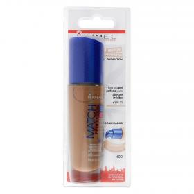 Rimmel maquillaje match perfection fundation nº400 natural beige