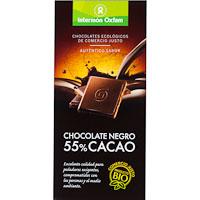 Oxfam chocolate negro 55% tableta de 100g.