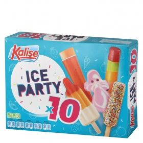 Kalise helados surtidos ice party por 10 unidades