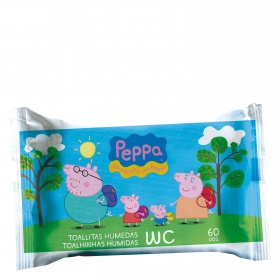 Peppa Pig toallitas humedas junior wc 60