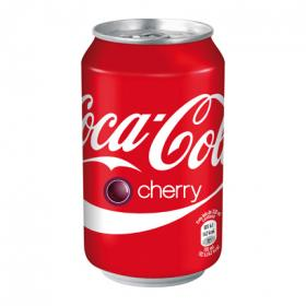 Coca Cola refresco cola cherry de 33cl.