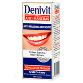 Denivit crema dental antimancha con fluor tubo de 50ml.