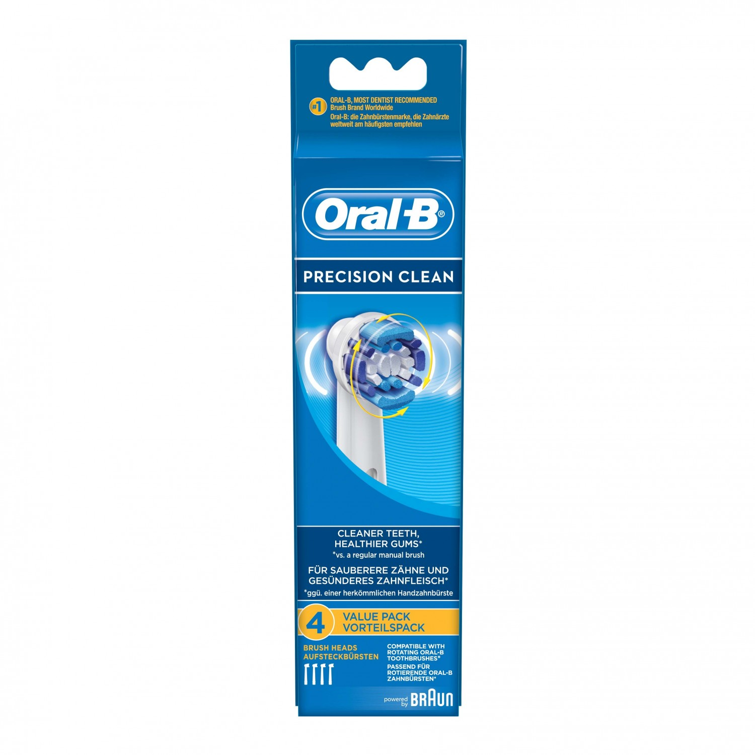 Oral B recambio cepillo dental electrico precision clean por 4 unidades