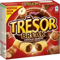 Kelloggs barritas tresor break de 130g.
