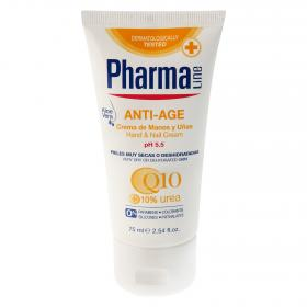 Pharmaline crema manos uñas antiedad de 75ml.