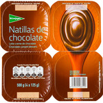 El Corte Ingles natillas chocolate de 125g. por 4 unidades