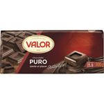 Valor chocolate puro tableta de 300g.