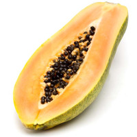 Media papaya, al peso de 1kg.