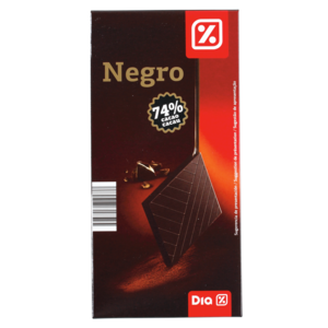 Dia chocolate negro 74% tableta de 100g.