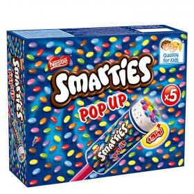 Smarties nestle pop up helado estuche de 34cl. por 4 unidades