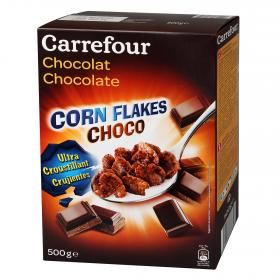 Carrefour corn flakes con chocolate de 500g.