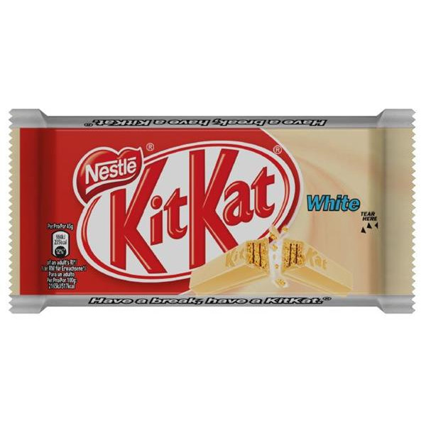 Kit Kat chocolatina white de 45g.