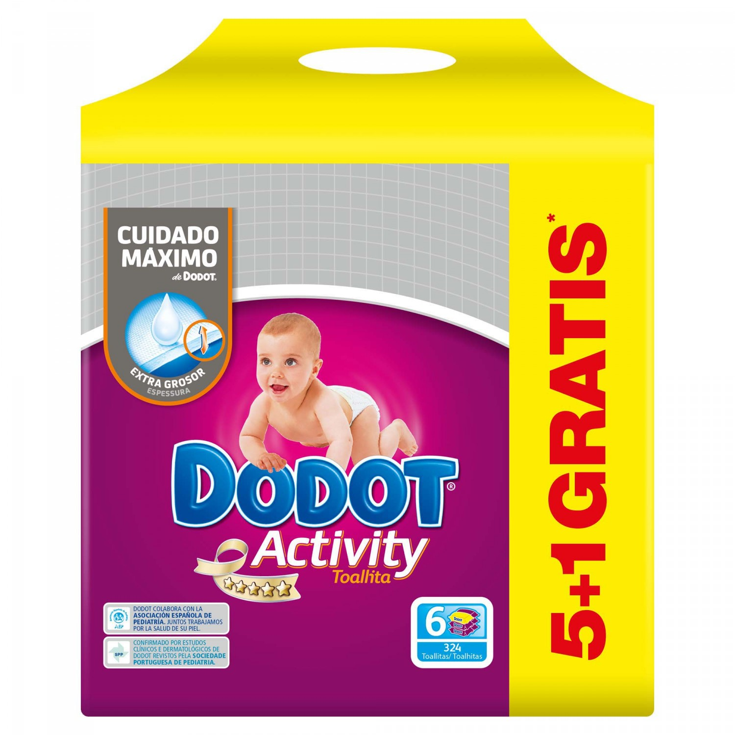Dodot Activity recambio toallitas activity sixpack 324
