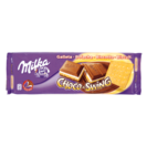 Milka chocolate leche relleno galleta choco swing tableta de 300g.