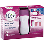 Veet kit especial con cera easy was roll on electrico con dispositivo auto calentable recambio cera piernas recambio cera axilas ingles neceser