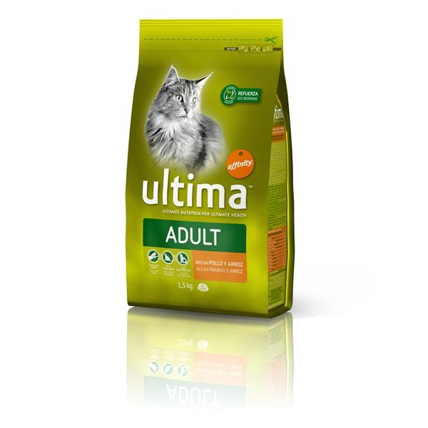 Ultima health cat rico en pollo arroz de 1,5kg. en paquete