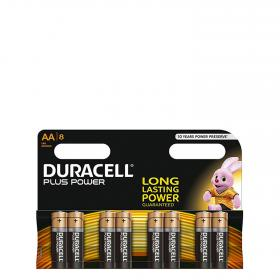 Duracell pilas lr06 aa plus 8 ud