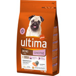 Ultima sensitive alimento perros raza mini con salmon envase de 1,5kg.