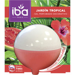 Iba ambientador gel decorativo jardin tropical envase