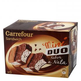 Carrefour mini sandwich duo nata por 6 unidades