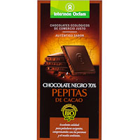 Oxfam chocolate negro 70% con pepitas tableta de 100g.