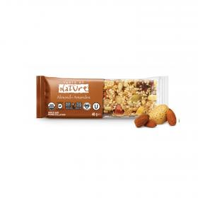 Taste of nature barritas de almendras bio de 40g.