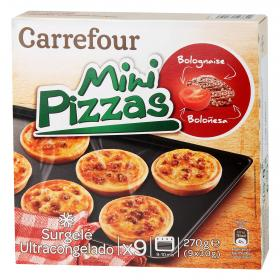 Carrefour mini pizza boloñesa de 270g.