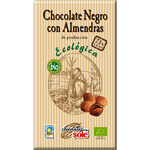 Sole chocolate negro con almendras 73% cacao tableta de 150g.
