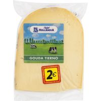 Hollandia queso gouda tierno royal de 240g.