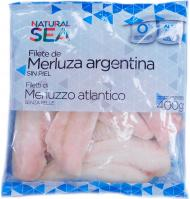 Filete s/p natural sea merluza de 400g.