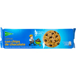 El Corte Ingles galletas con chips chocolate 37% trocitos estuche de 225g.