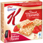Kelloggs special k biscuits moments barritas cereales rellenas fresa 5 packs x 2 biscuits estuche de 125g.