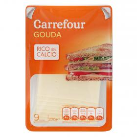 Carrefour queso gouda holland en lonchas de 200g.
