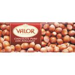 Valor chocolate puro con avellanas tableta de 250g.