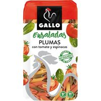 Gallo plumas con vegetales gallo, paquete 500 g
