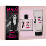 O Live malu love music eau toilette natural femenina body lotion tubo de 75ml. en spray