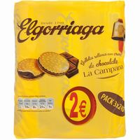 Elgorriaga galleta rellena chocolate 3 de 250g. en paquete