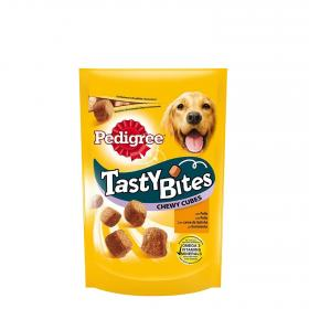Snack para perro tasty bites chewy cubes de 130g.