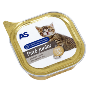 As as alimento gatos junior pollo de 100g. en bote