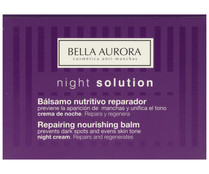Bella Aurora crema noche nutritiva reparadora night solution de 50ml.