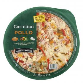 Carrefour pizza pollo de 400g.