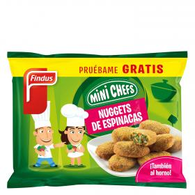 Findus nuggets espinacas mini chefs de 250g.