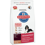 Hill's Science plan advanced fitness alimento especial con cordero arroz perros adultos raza mediana de 14,5kg. en bolsa