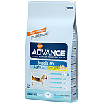 Advance medium light pienso perros adultos raza mediana con sobrepeso rico en pollo arroz de 12kg. en bolsa