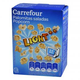 Carrefour palomitas light de 90g. por 3 unidades