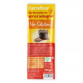 Carrefour pan molde integral con arroz de 480g.