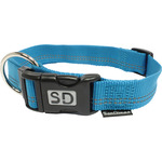 San Dimas collar nailon color azul medidas 25 mm