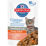 Hill's Science plan sterilised cat tender chunks young adult trozos tiernos salmon gato adulto joven esterilizado de 85g. en bolsa