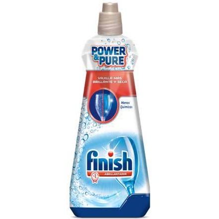 Finish abrillantador lavavajillas power&pure de 38,5cl.